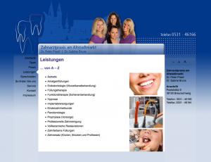 Screenshot Zahnarztpraxis